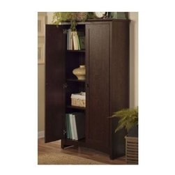 Bush - 2-Door Tall Storage Cabinet - Simple and elegant design. Two ...