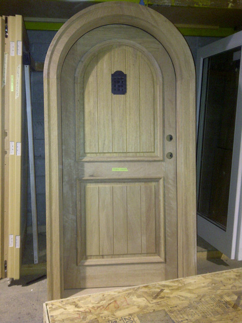 Arch Top Mahogany Door With Speakeasy Traditional Front Doors Vancouver By Doorex