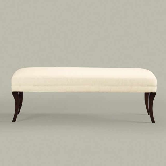 "wellesley bench 60"" - traditional - bedroom benches - by Ethan Allen"