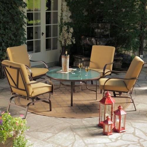 Terrace Living Rioja Collection Aluminum Chat Set Seats 4 Modern Patio