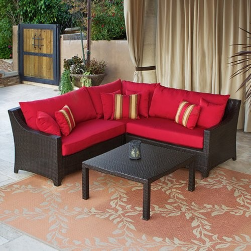 RST Cantina Sectional Set - contemporary - patio furniture and ... - Outdoor Sectional Patio Furniture