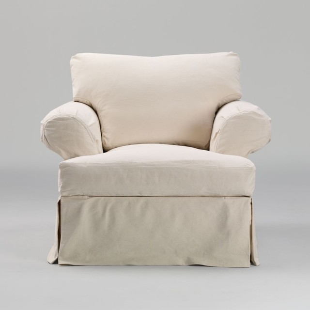 corbett chair slipcover - traditional - armchairs - by Ethan Allen