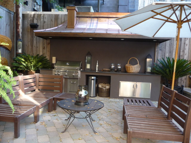 Chicago roof deck contemporary landscape other metro by chicago roof deck garden - Barbacoas rusticas de obra ...