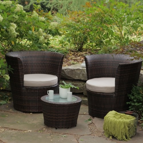 Coral Coast Sanibel All Weather Wicker Balcony Chat Set Contemporary Outd
