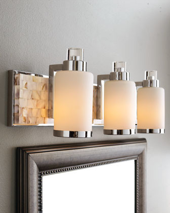4 light mother of pearl vanity bar traditional for Traditional bathroom vanity lights