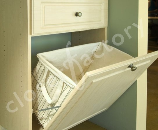Tip out laundry basket with canvas liner - Eclectic ...