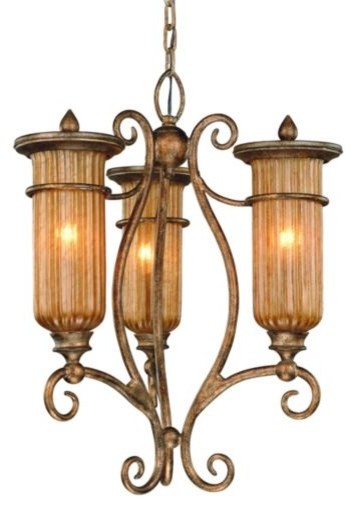 Lido Cyclepunk Outdoor Lighting - traditional - Wrought Iron 3 Light Outdoor Chandelier Oil Rubbed Bronze By Royce ... - by Lumens - Outdoor Lighting Chandeliers