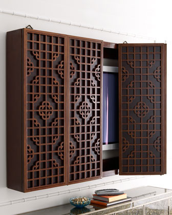 Wooden Plasma TV Cabinet - Traditional - Media Storage - by Horchow