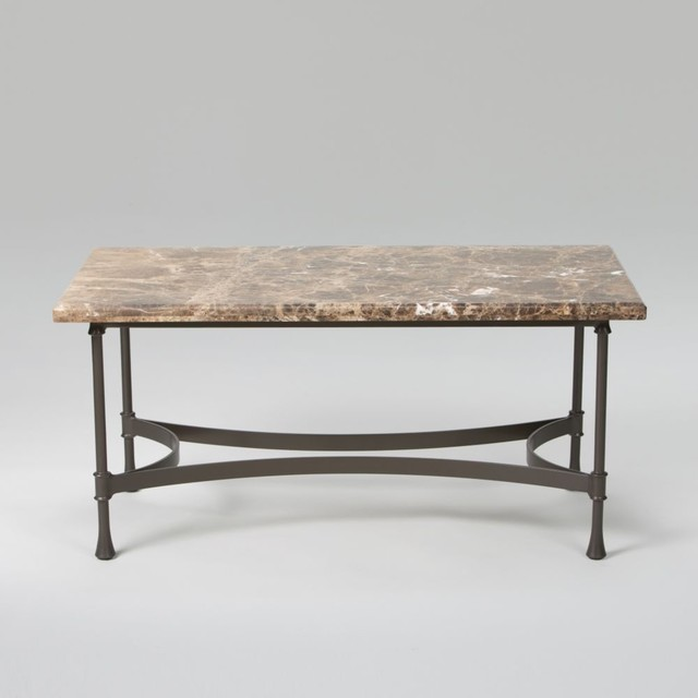 Traditional Coffee Tables Ethan Allen: Biscayne Coffee Table With Dark Marble Top