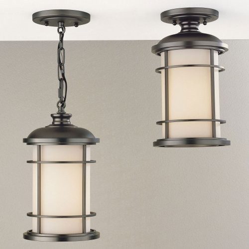 Murray Feiss Lighthouse Outdoor Hanging/Ceiling Light - 14H in ...