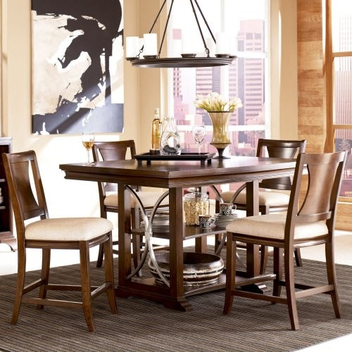 american drew essex gathering height dining table